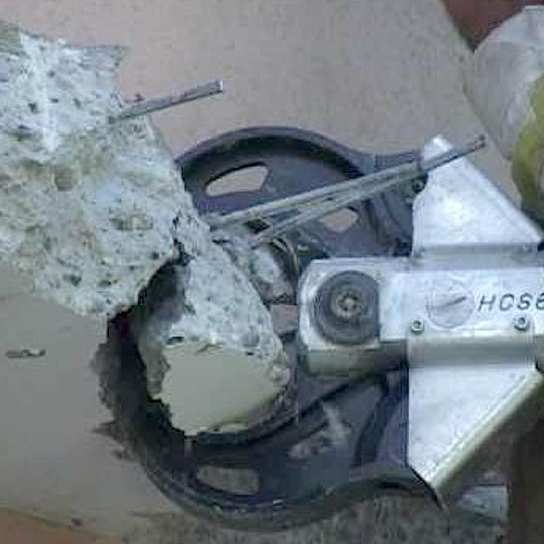 Concrete Crunching Hydraulic Crunching